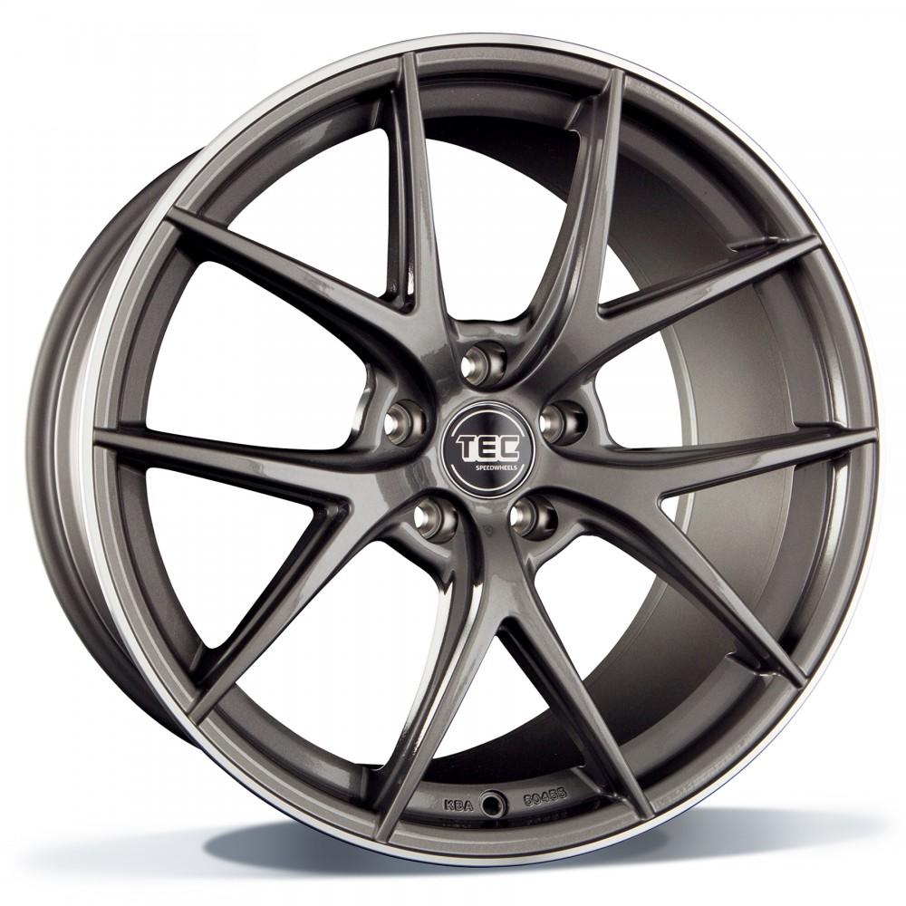 TEC GT6 dark grey polished lip 20 inch velg