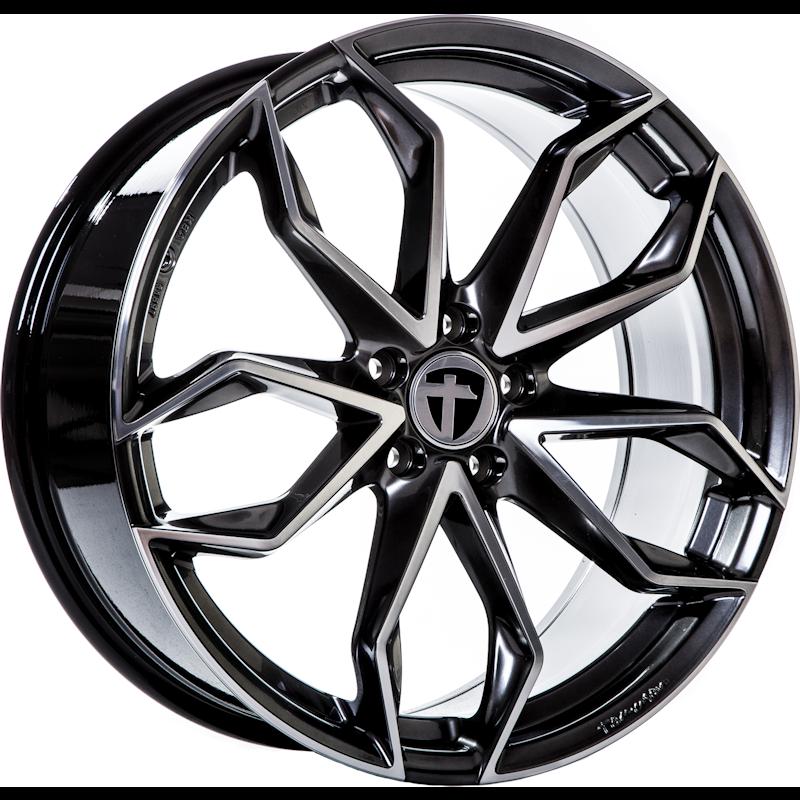 Tomason TN22 Dark Hyper black polished 20 inch velg