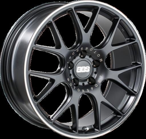 BBS CH-RII satin black/titanium 22 inch velg