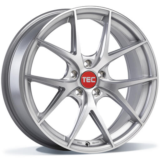 TEC GT6 EVO silver front polished 19 inch velg