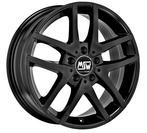 MSW MSW28 GLANZEND ZWART  17 inch velg
