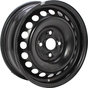 ALCAR STAHLRAD 8365 Black 15 inch velg