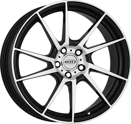 Dotz Kendo Black/polished 16 inch velg