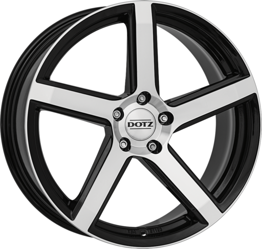 Dotz CP5 dark Black/polished 20 inch velg