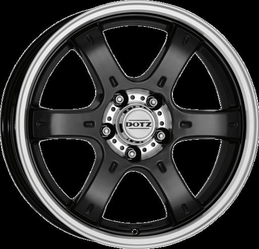 DOTZ 4X4 Crunch Black/polished 16 inch velg