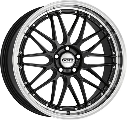 Dotz Revvo dark Gunmetal/polished lip 20 inch velg