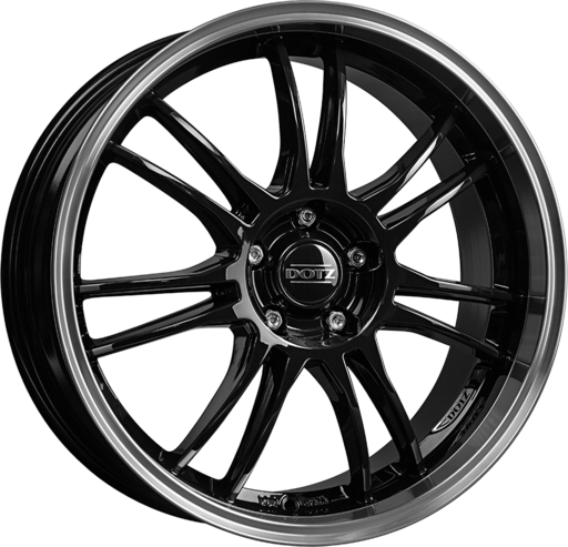 Dotz Shift Black/polished lip 19 inch velg