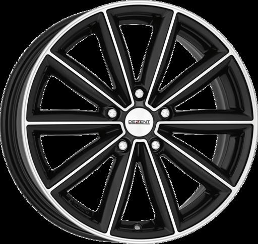 DEZENT TM dark Black/polished 18 inch velg