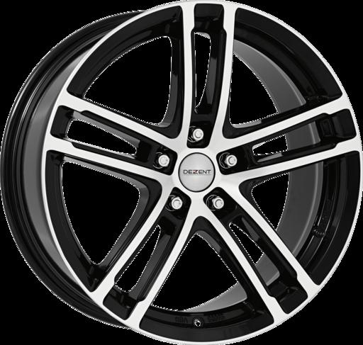 DEZENT TZ-c dark Black/polished 17 inch velg
