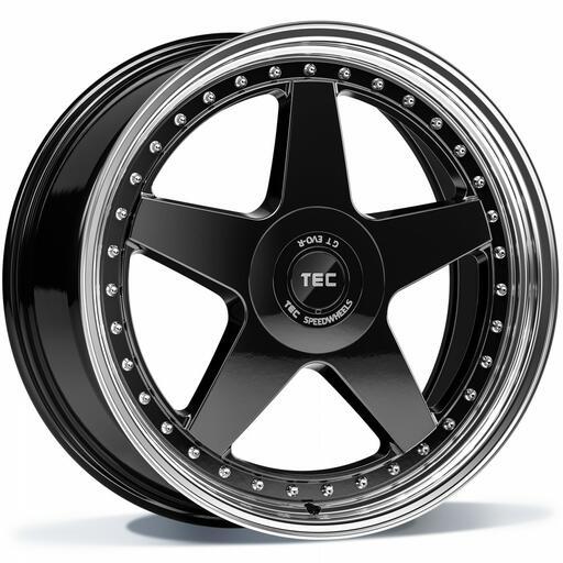 TEC GT EVO-R black polished lip 18 inch velg