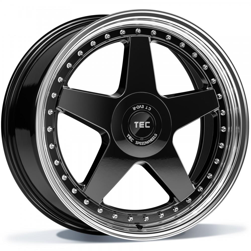 TEC GT EVO-R black polished lip 20 inch velg