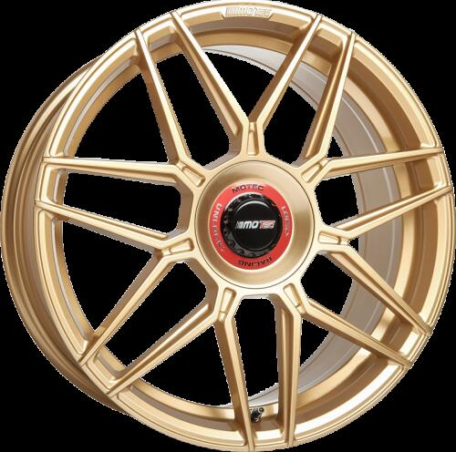 Motec GT.one gold painted D7 19 inch velg