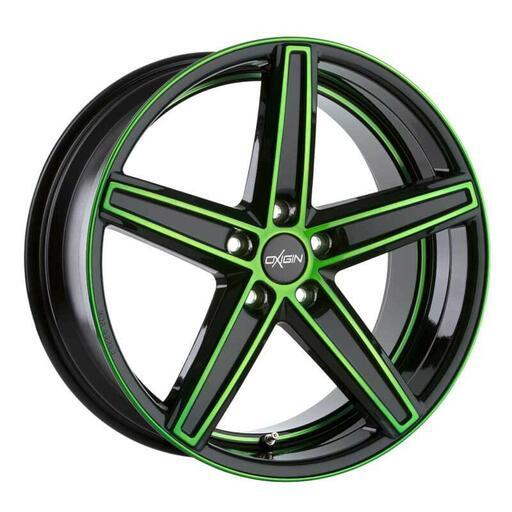 Oxigin 18 Concave neon green polish 20 inch velg