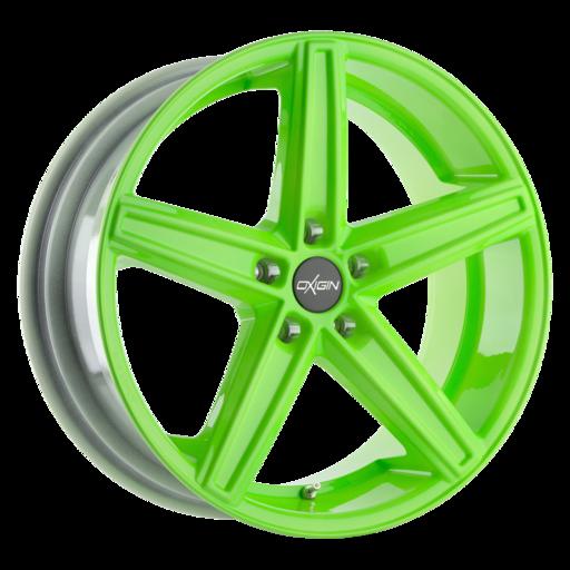 Oxigin 18 Concave neon green polish Mat 21 inch velg