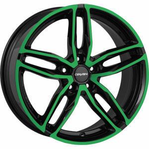 Carmani 13 Twinmax neon green polish 20 inch velg