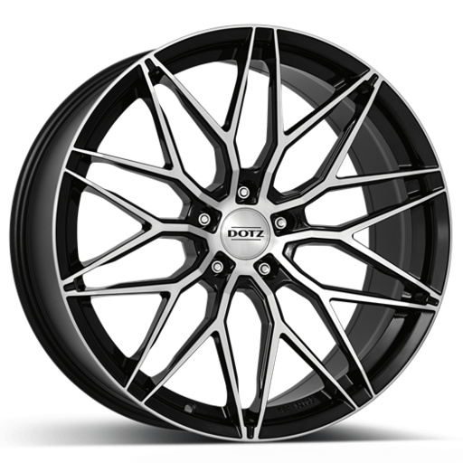 Dotz Suzuka dark Black/polished front 19 inch velg