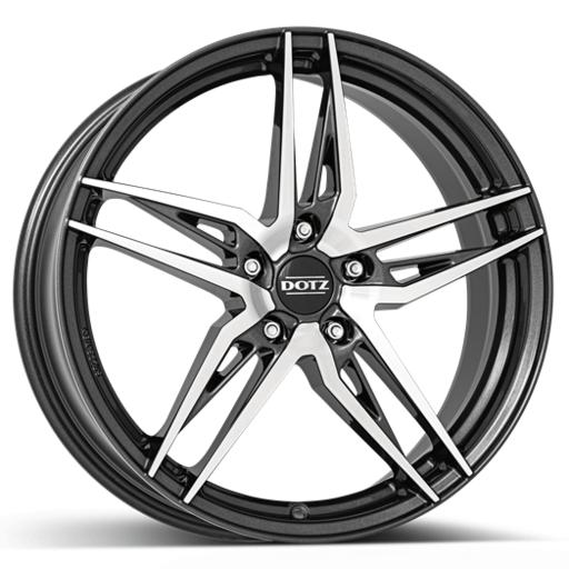 Dotz Interlagos dark Gunmetal polished 17 inch velg