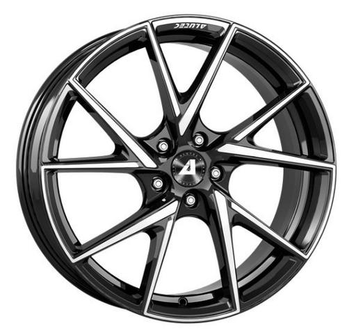 ALUTEC ADX.01 diamant-Zwart frontGepolijst 18 inch velg