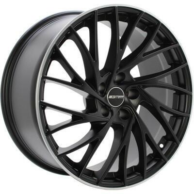 GMP ENIGMA Mat zwart met gepolijste rand 18 inch velg