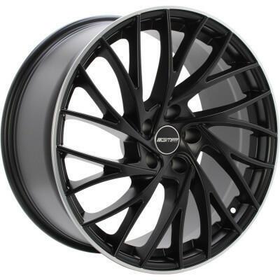 GMP ENIGMA CONCAVE Mat zwart met gepolijste rand 21 inch velg