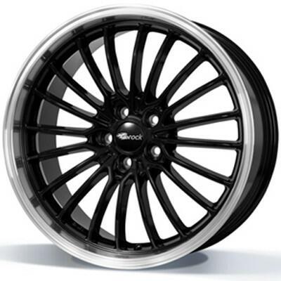 BROCK B24 GP Zwart met gepolijste rand 19 inch velg
