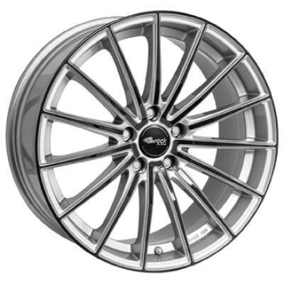 BROCK B36 Zilver met zwarte voorkant 19 inch velg